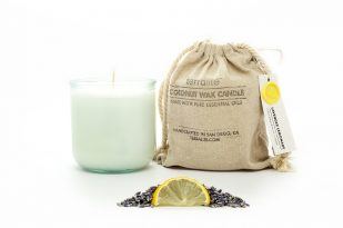 COCONUT WAX CANDLES - LAVENDER LEMONADE {large glass}