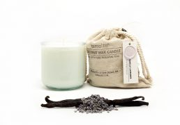 COCONUT WAX CANDLES - VANILLA LAVENDER {large glass}