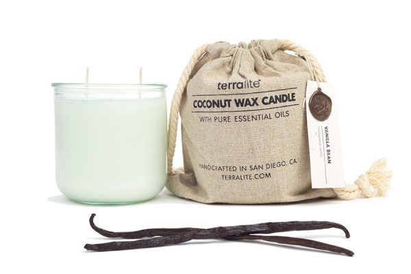 COCONUT WAX CANDLES - VANILLA BEAN {large glass}