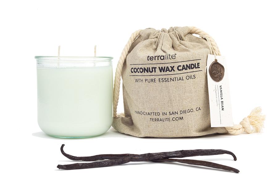COCONUT WAX CANDLES - VANILLA BEAN {large glass}