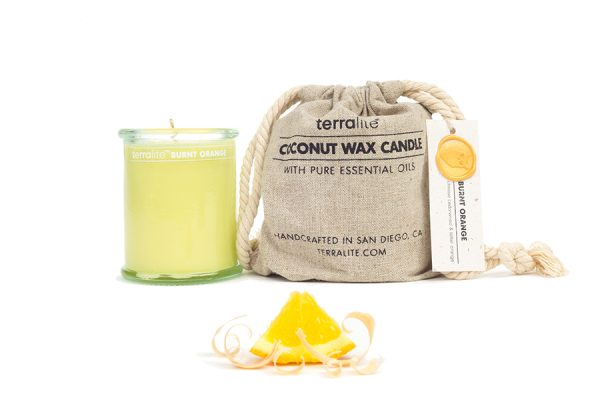 COCONUT WAX CANDLES - BURNT ORANGE {small glass}