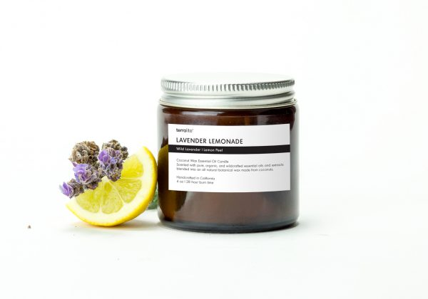 LAVENDER LEMONADE {travel} Coconut Wax Essential Oil Candle with wild lavender and lemon peel essential oils