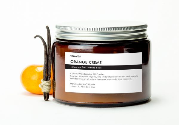 ORANGE CREME {tri-wick} Coconut Wax Essential Oil Candle with sweet orange and vanilla essential oils
