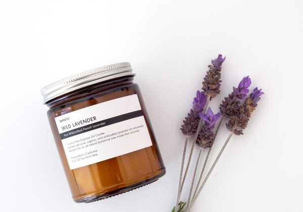 WILD LAVENDER essential oil candle made with natural coconut wax, wildcrafted French lavender essential oils. 8oz
