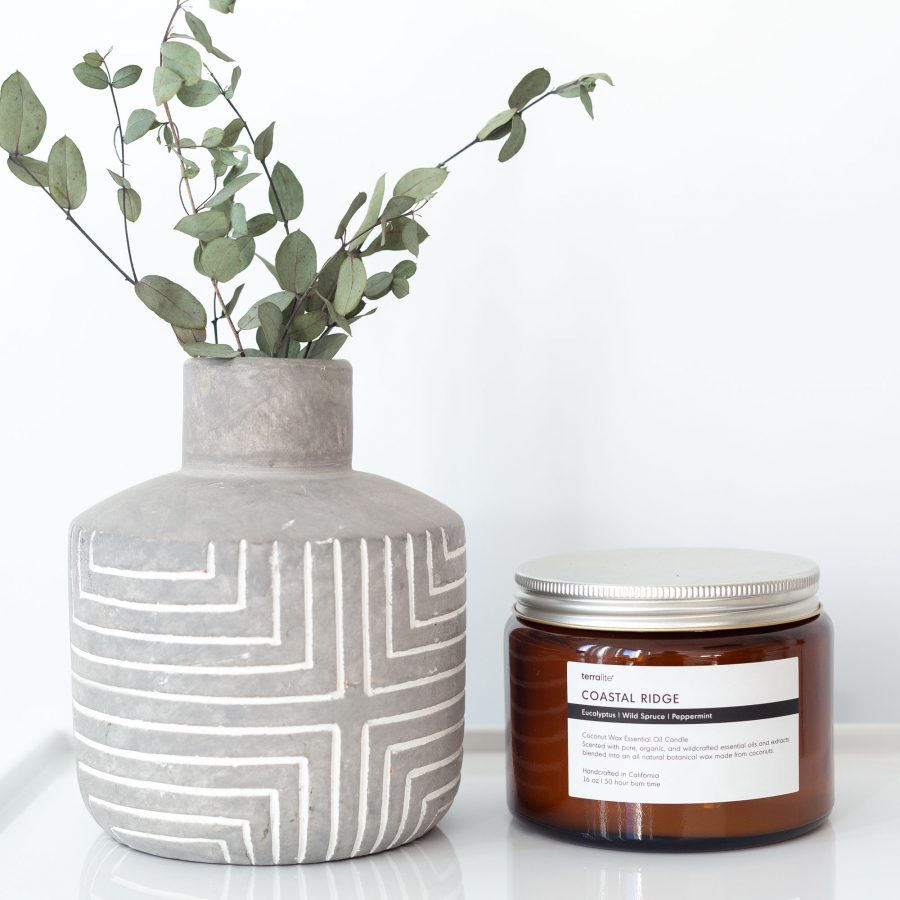 Coastal Ridge essential oil candle, 100% natural made with coconut wax - 16oz.