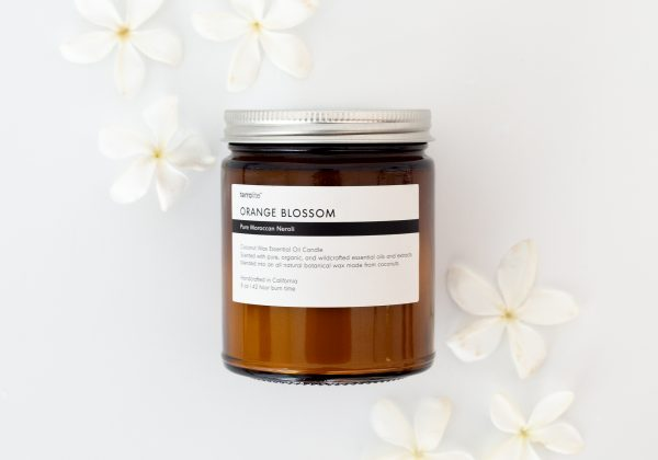 ORANGE BLOSSOM Essential Oil Candle with natural coconut wax and Neroli essential oil. - 8oz