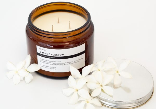 ORANGE BLOSSOM Essential Oil Candle with natural coconut wax and Neroli essential oil. - 16oz