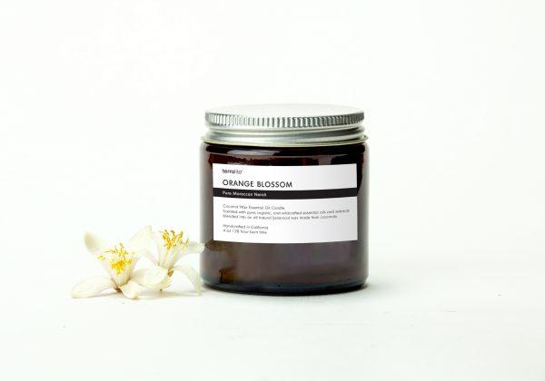 ORANGE BLOSSOM {travel} Coconut Wax Essential Oil Candle with neroli essential oils