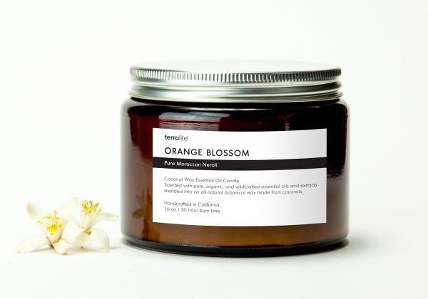 ORANGE BLOSSOM {tri-wick} Coconut Wax Essential Oil Candle with neroli essential oils