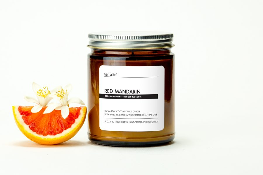 RED MANDARIN {classic} Botanical Coconut Wax Candle with red mandarin and neroli essential oils