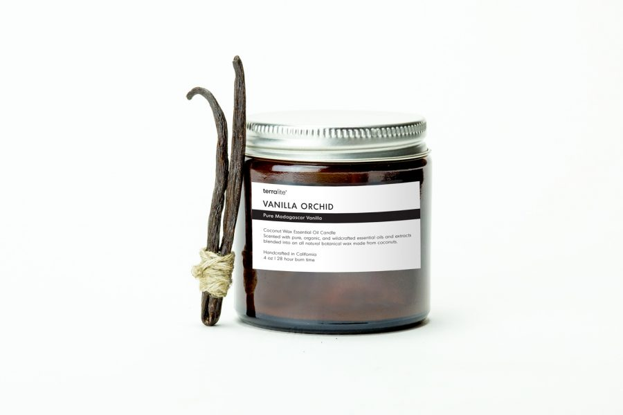 VANILLA ORCHID {travel} Coconut Wax Essential Oil Candle with pure vanilla essential oils