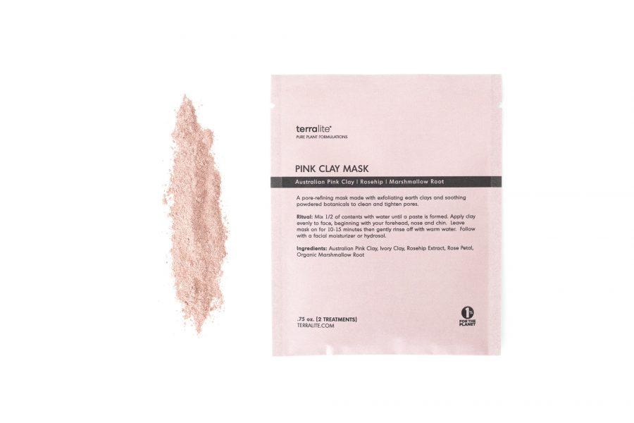 Organic Pink Clay Mask - Single Use