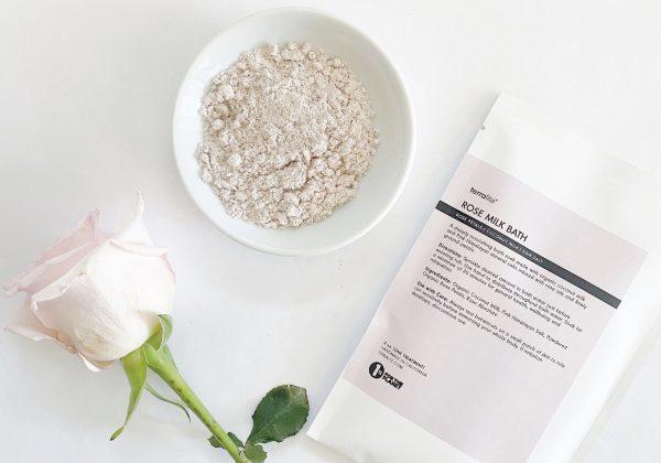 Organic Rose Coconut Milk Bath Soak