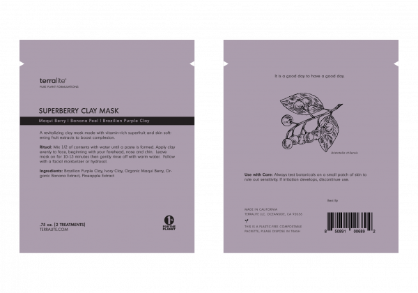 Superberry Clay Mask made with Maqui Berry