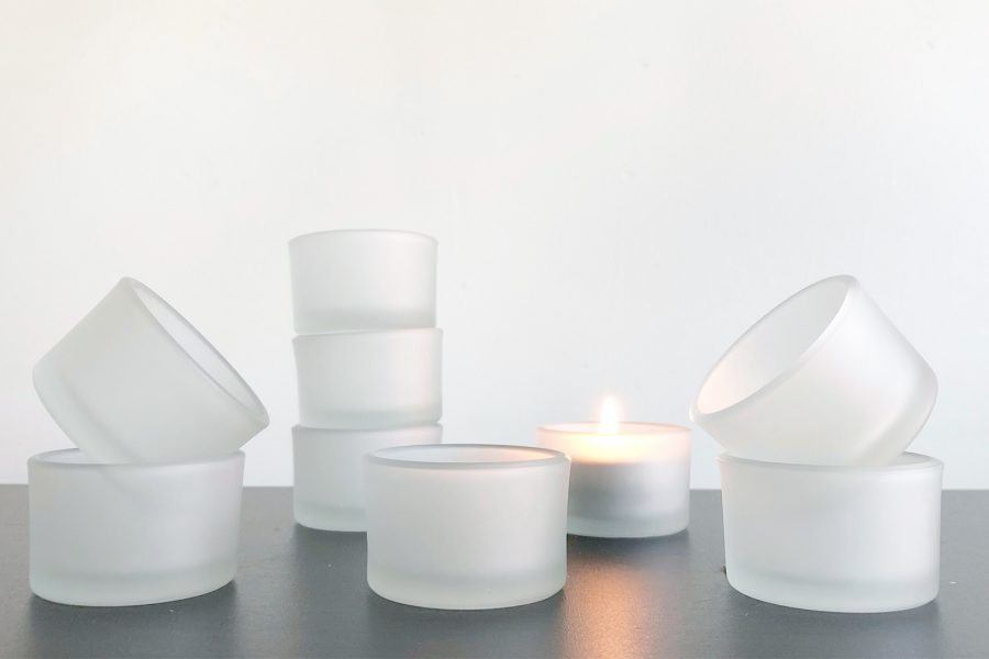 Frosted Glass Tealight Holder