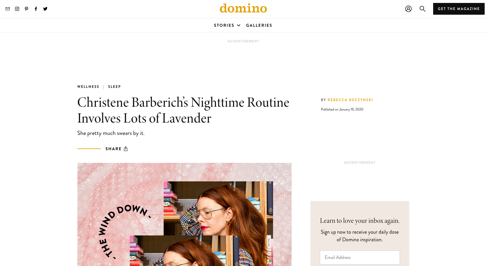 Christene Barberich's Nighttime Routine Involves Lots of Lavender